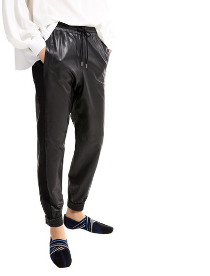 Nappa Leather Jogging Trousers Sportmax