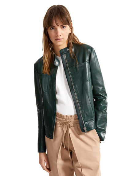 Nappa Leather Motorcycle Jacket Sportmax