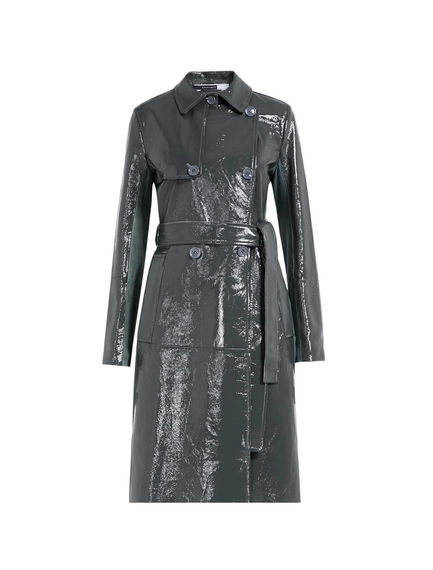 Naplak Leather Trench Coat