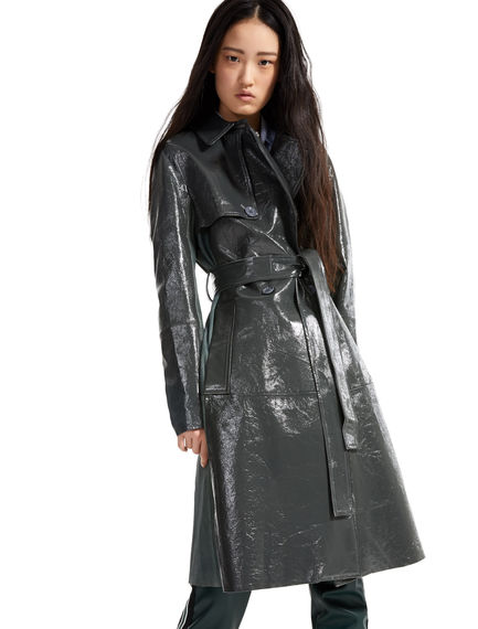 Naplak Leather Trench Coat
