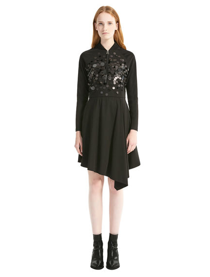 Asymmetric Sequin Dress