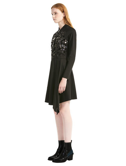 Asymmetric Sequin Dress