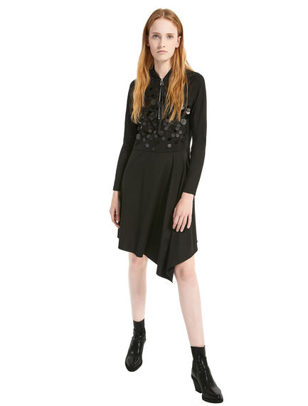 Asymmetric Sequin Dress Sportmax
