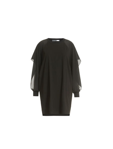 Crêpe Sleeve Mini Dress