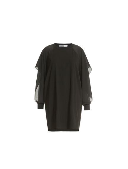 Crêpe Sleeve Mini Dress