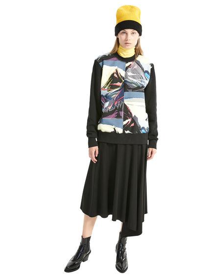 Asymmetric Jersey Skirt