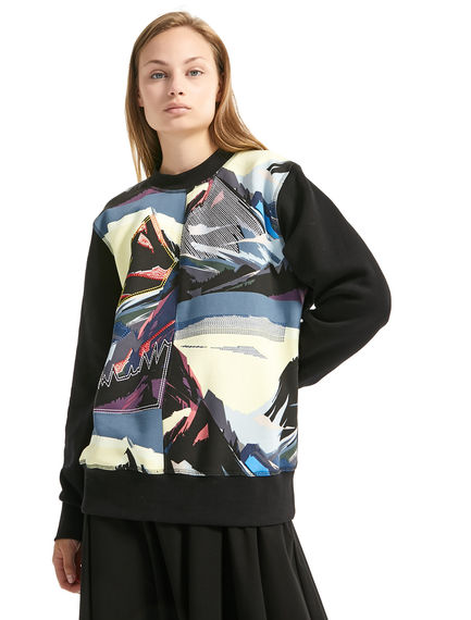 Mountain Motif Sweatshirt