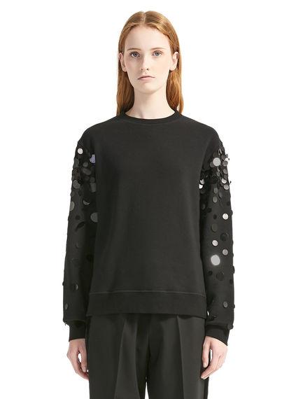 Slash-back Sequin Dégradé Sweatshirt