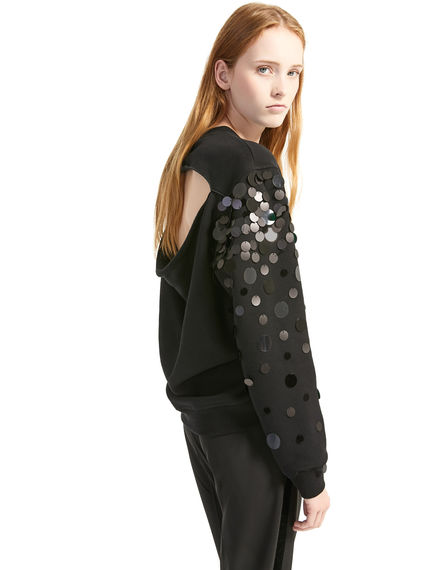 Slash-back Sequin Dégradé Sweatshirt Sportmax