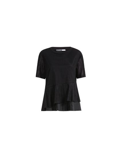 Asymmetric Flounce Tulle T-shirt