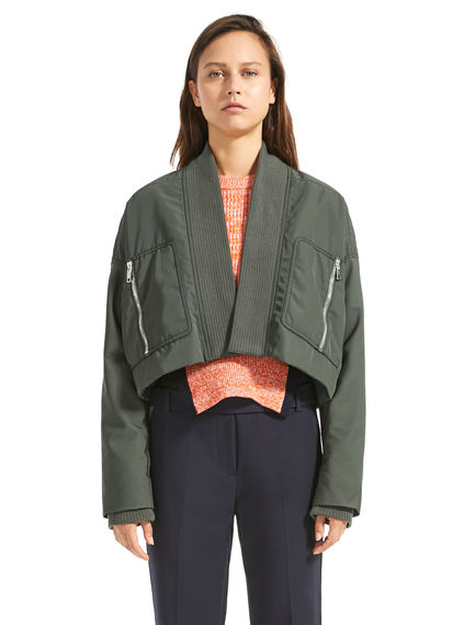 Reverse-Effect Cropped Jacket