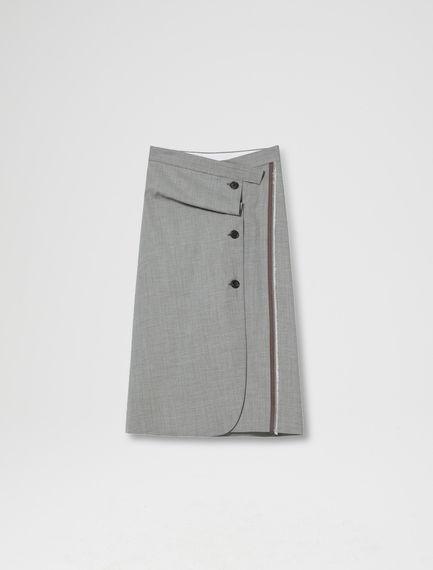 Sartorial Wool-canvas Skirt