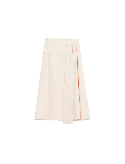 Constructed Cotton Skirt