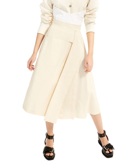 Constructed Cotton Skirt Sportmax