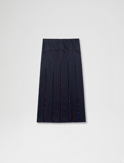Faded Stripe Silk Satin Skirt