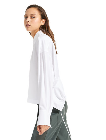 Drawstring-back Shirt