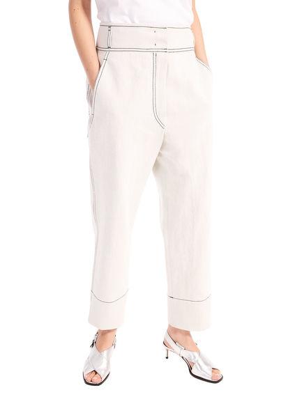 Denim-Detailed Trousers Sportmax