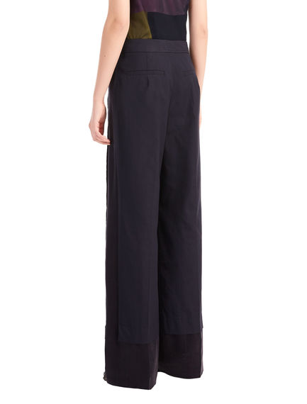 Wide-leg Poplin & Satin Trousers Sportmax