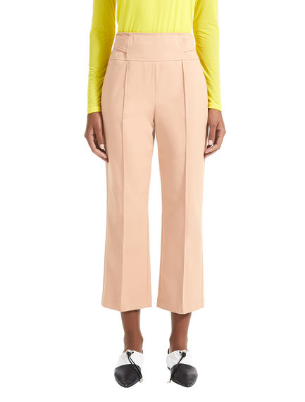 Reverse Belt Cropped Trousers