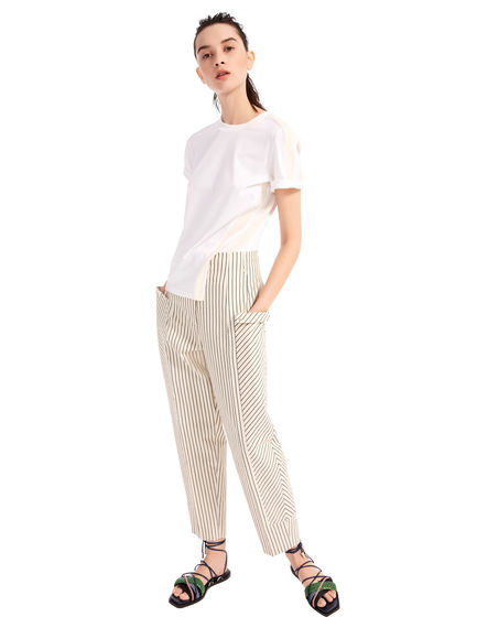 Pencil Stripe Cropped Trousers Sportmax