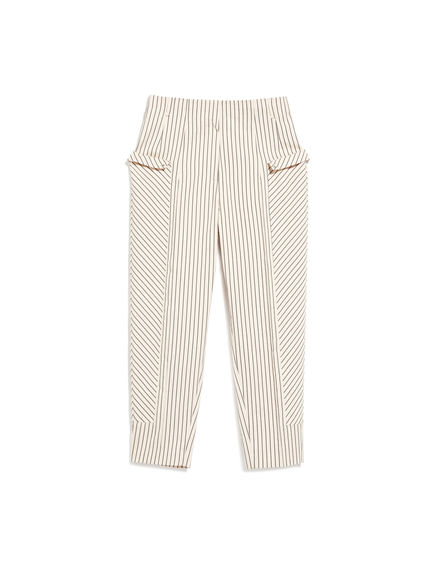 Pencil Stripe Cropped Trousers