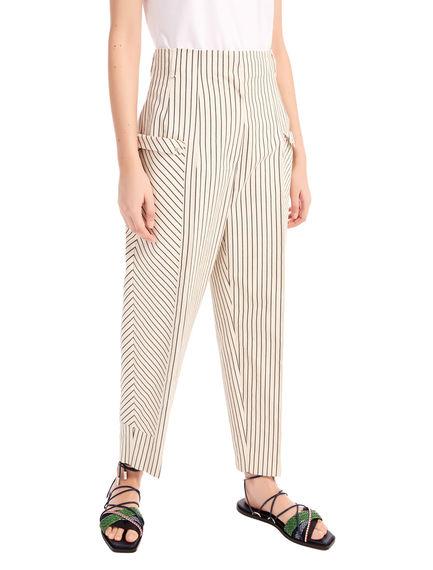 Pencil Stripe Cropped Trousers Sportmax