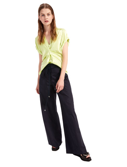 Paper bag-Waist Poplin TrousersPaper bag-Waist Poplin TrousersPaper bag-Waist Poplin TrousersPaper bag-Waist Poplin TrousersPaper bag-Waist Poplin TrousersPaper bag-Waist Poplin Trousers