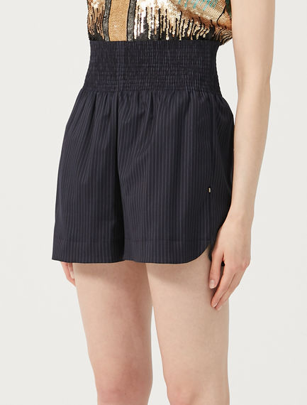 Pinstripe Tailored Shorts