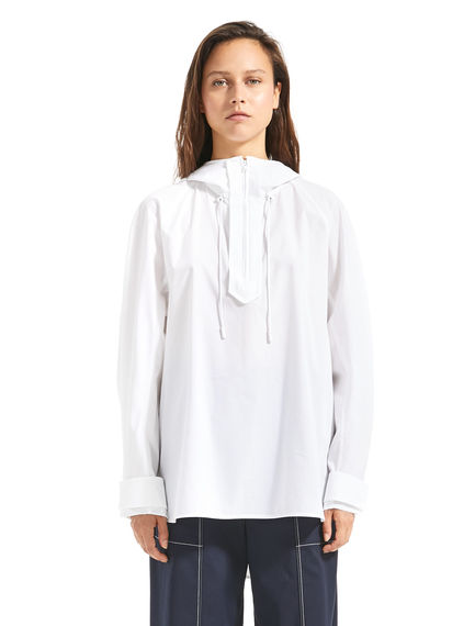 Hooded Poplin Shirt