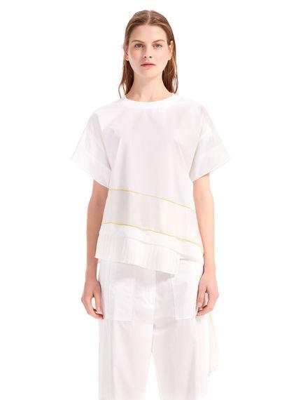 Silk & Poplin T-shirt
