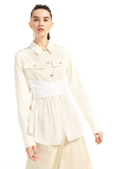 Silk & Cotton Shirt-Jacket Sportmax