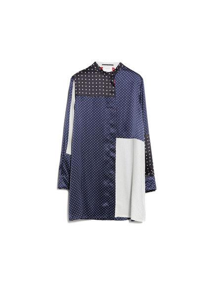 Camicia in seta con pois geometrici