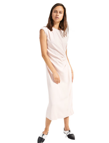 Ruched Pleat Viscose Dress Sportmax