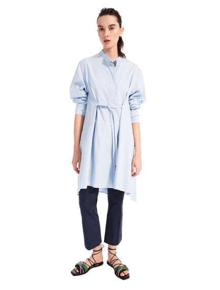 Asymmetric Poplin Shirtdress