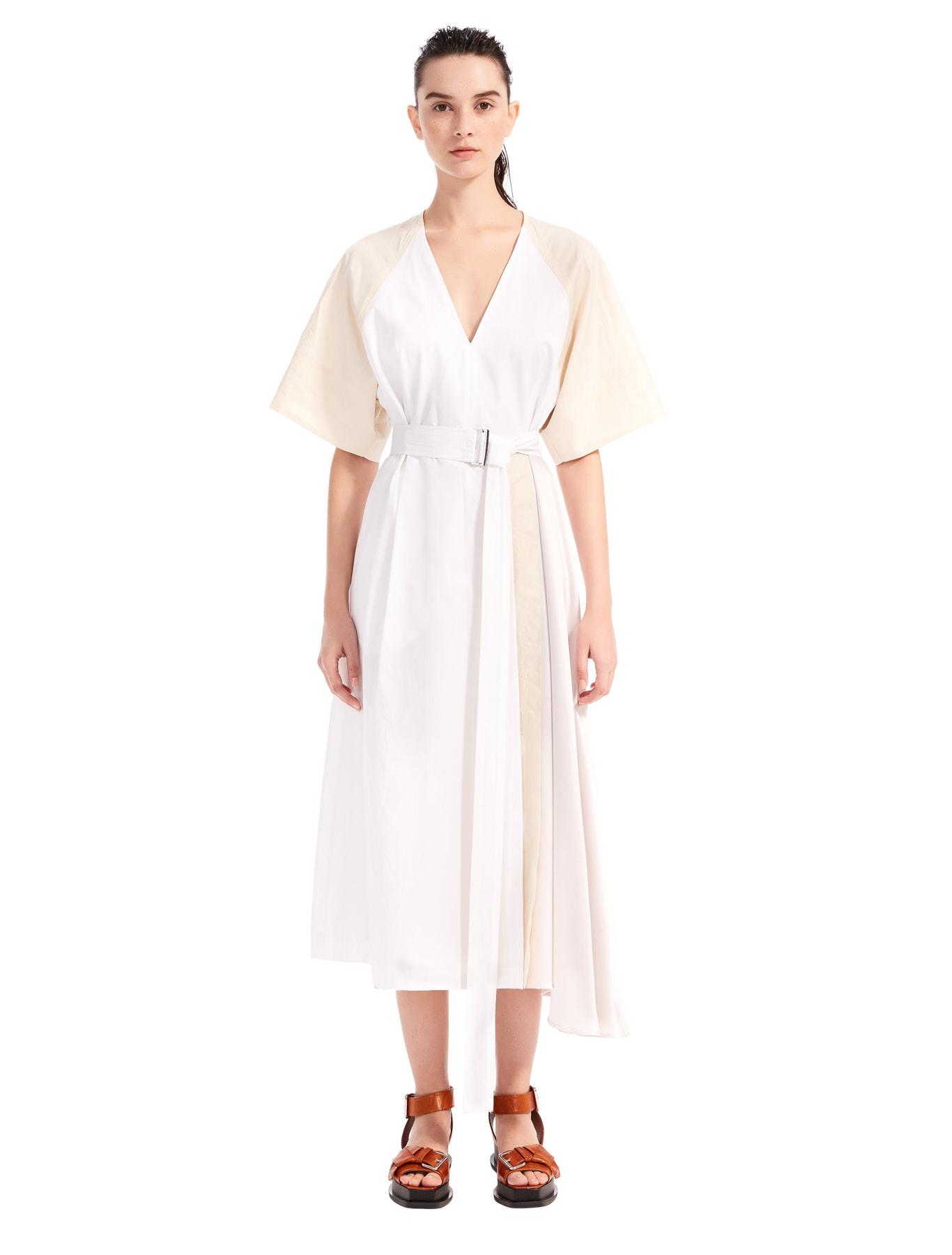 4754c807988e Silk & Cotton Midi Dress, white - Sportmax