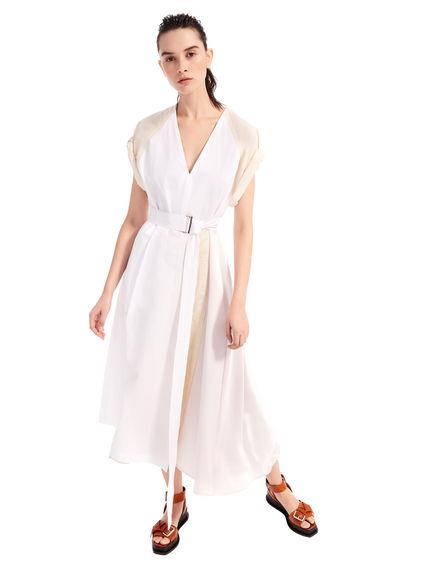 Silk & Cotton Midi Dress