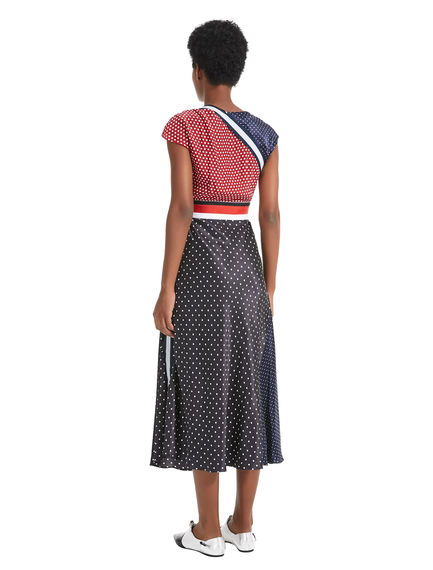 Multi Dot Silk Dress