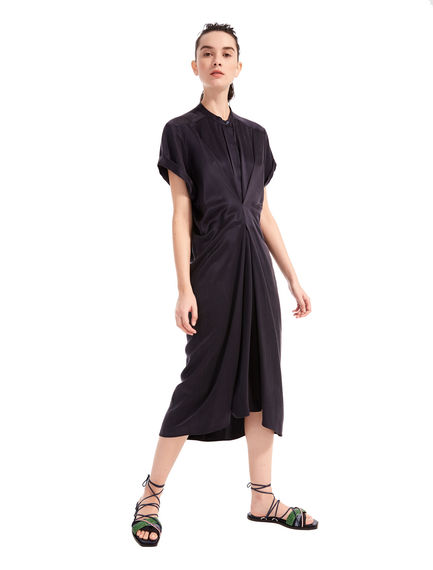 Short-sleeved Satin Dress Sportmax