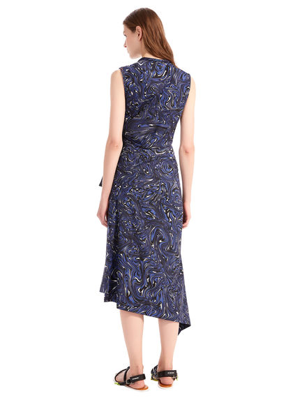 Swirl Printed Sash Dress Sportmax