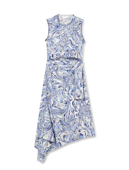 Swirl Printed Sash Dress