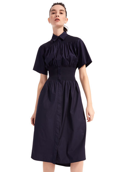 Short-sleeved Poplin Shirtdress