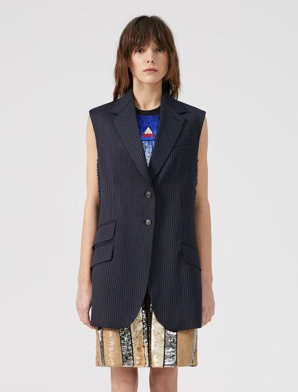 Oversized Pinstripe Waistcoat