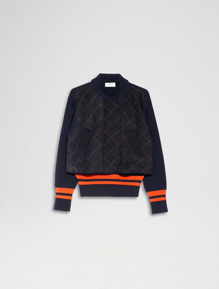Knitted Bomber Jacket