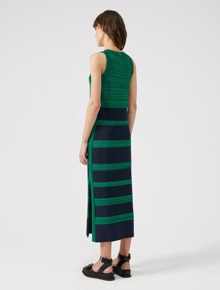 Striped Viscose Tank Top Dress