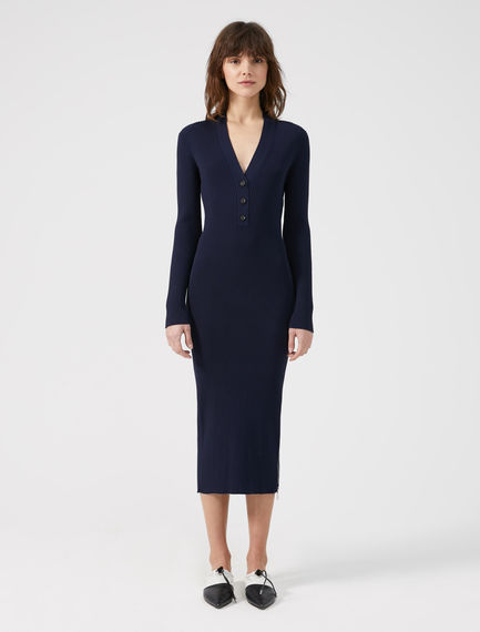 Viscose V-neck Polo Dress