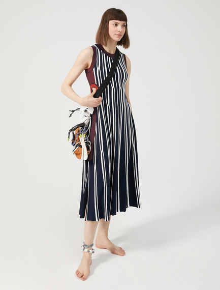 Two-Tone Striped Dress