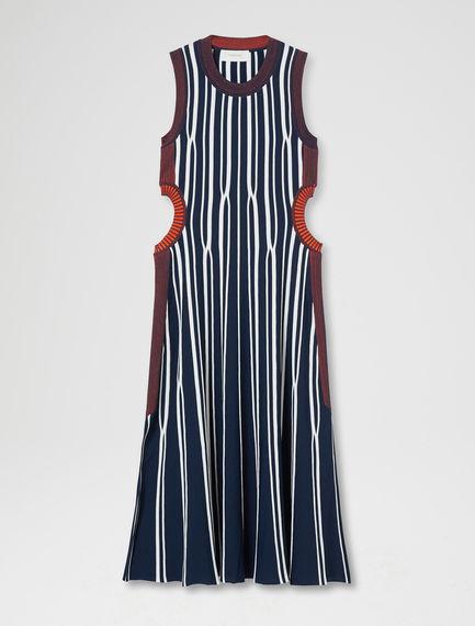 Two-Tone Striped Dress