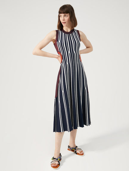 Two-Tone Striped Dress Sportmax