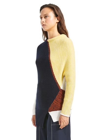 Graphic Patchwork Cashmere Sweater Sportmax