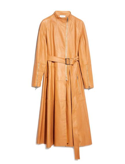 Nappa Leather Biker Coat